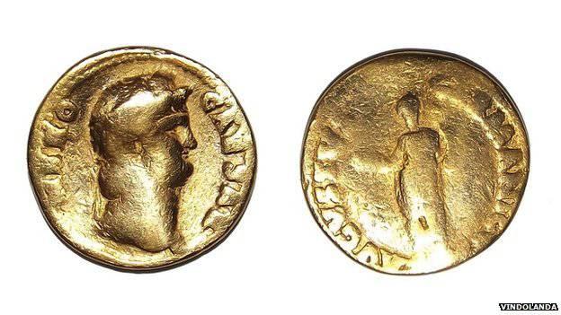 archeologie boz romeinse munt nero 64
