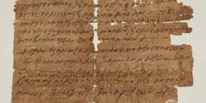 archeologie boz papyrus