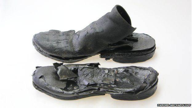 archeologie boz middeleeuwse schoen