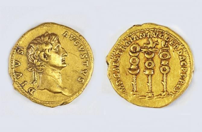 archeologie boz romeinse munt augustus